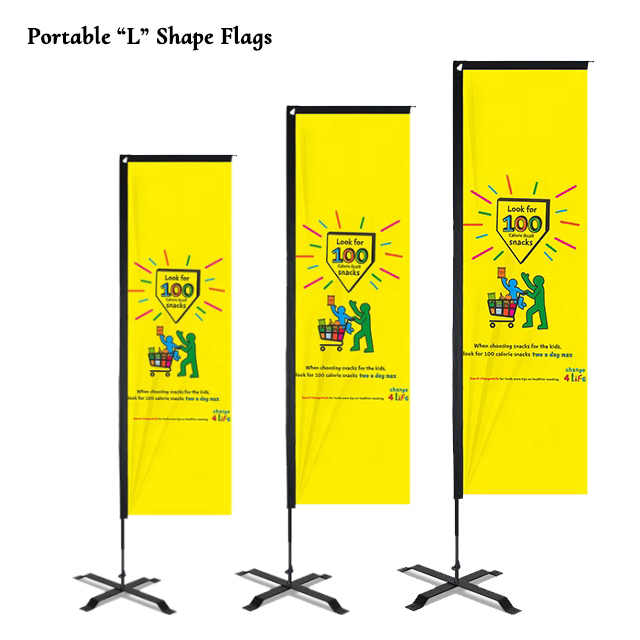 Portable L Shape Flags Supplier Sri Lanka